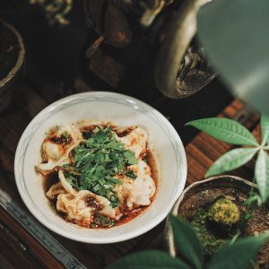 Sichuan Wonton in Spicy Oil