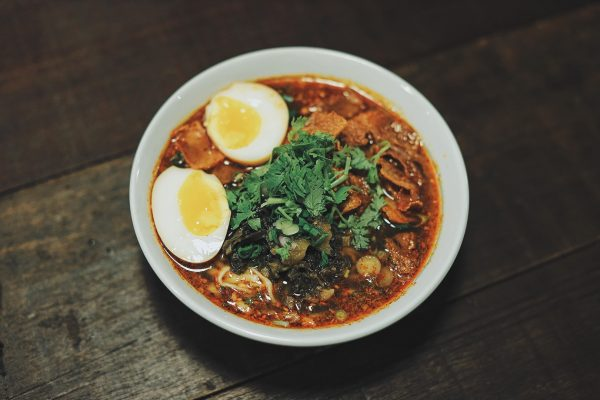 Tan Tan Noodle Soup with Fish Cakes and Braised Egg